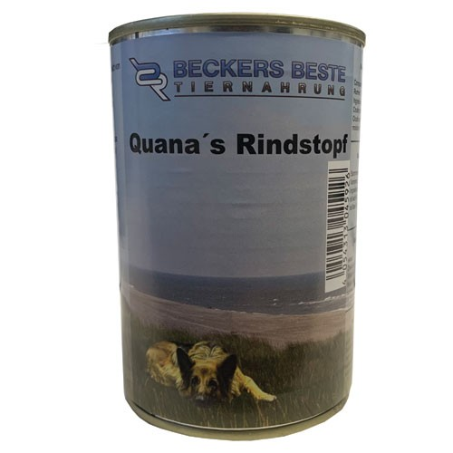 Quana´s Rindstopf pur Beckers-Beste-Tiernahrung 410g